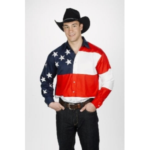Mens Western Shirt -Stars And Stripes