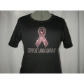 Cancer Awareness Rhinestone Shirt