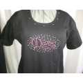 Crystal Rhinestones & Studs Oval  Pink Dance Shirt