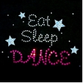 Sequin & Rhinestone Eat Sleep Dance Decal