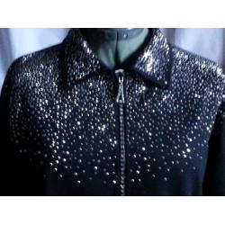 Crystal Zipper Jacket, Scattered Stud Bing Front
