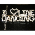 I Love Line Dance Rhinestone Pin