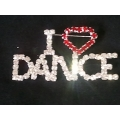 I Love Dance Rhinestone Pin