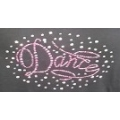 Rhinestone Pink Dance with Crystal Stones