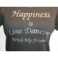 Happiness Is Line Dancing With My Friends Rhinestone Shirt