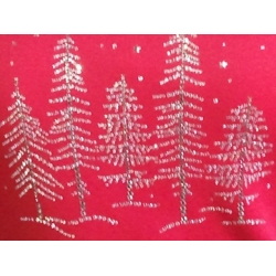 Rhinestone Christmas Trees Ladies Shirt