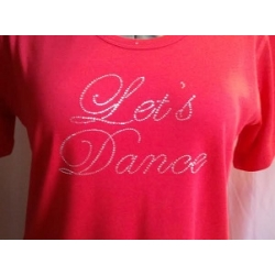 Let's Dance Crystal Rhinestone Ladies Shirt