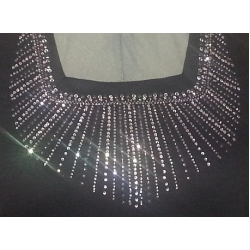 Square Neck Shirt With Lots Of Bling