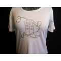 Boot & Rope Design Ladies Rhinestone Shirt