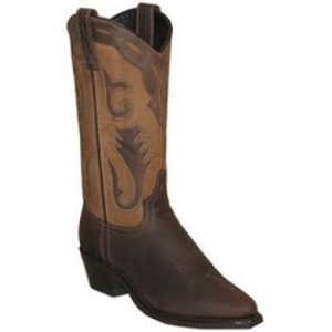 Sage Ladies Western Boots, Brown Cowhide,